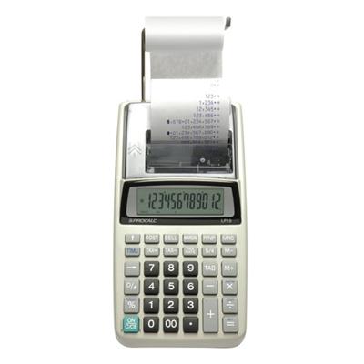 Calculadora de Impressão Procalc LP19  Impressora de 12 dígitos 1 cor Usa 4 pilhas AA (inc.) ou adap.AC biv Não Incluso