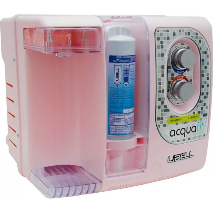 Purificador Eletrônico Libell Acqua-Fit Colorido Bivolt Rosa - Compacto, 3 etapas de filtragem