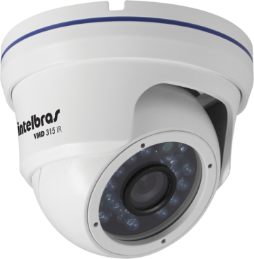 Câmera Intelbras VMD 315 IR PRETO Ir Day Night Infra Dome 15 MT