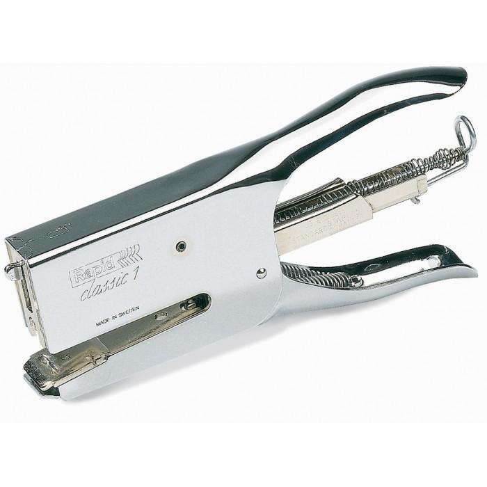 Grampeador Alicate Rapid K1 Classic Grampeia até 50 folhas Grampos Aplicáveis: 24/6-8