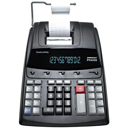 Calculadora de Impressão  Procalc PR4000 - Calc. Imp. 12 díg LED, cor preta,  2 cores. Impr. 4.1 l/s, bivolt automático, fita (PVF)