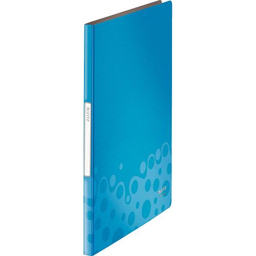 Pasta Catálogo Esselte Bebop Azul - 20 plásticos