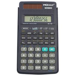 Calculadora Científica Procalc SC133 - 139 funções, 10 2 dígitos, capa deslizante, solar/bateria, fração (2 x G10)