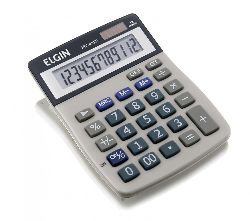 Calculadora de mesa Elgin MV-4122 12 digitos (solar/bateria)