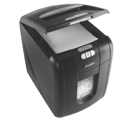 (FORA DE LINHA) Fragmentadora de Papel Automática Swingline 100X 110V
