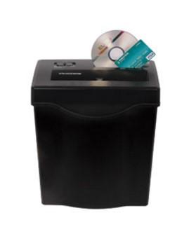 (FORA DE LINHA) Fragmentadora ELGIN FC 7121 220V corta cds, cartões de crédito, até 12 folhas em tiras de 6,4mm, fenda 220mm, cesto 13lts