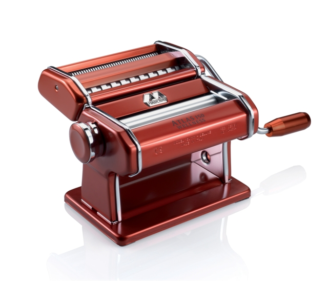 Máquina de Macarrão Marcato Atlas 150 Vermelho para 3 tipos de massas