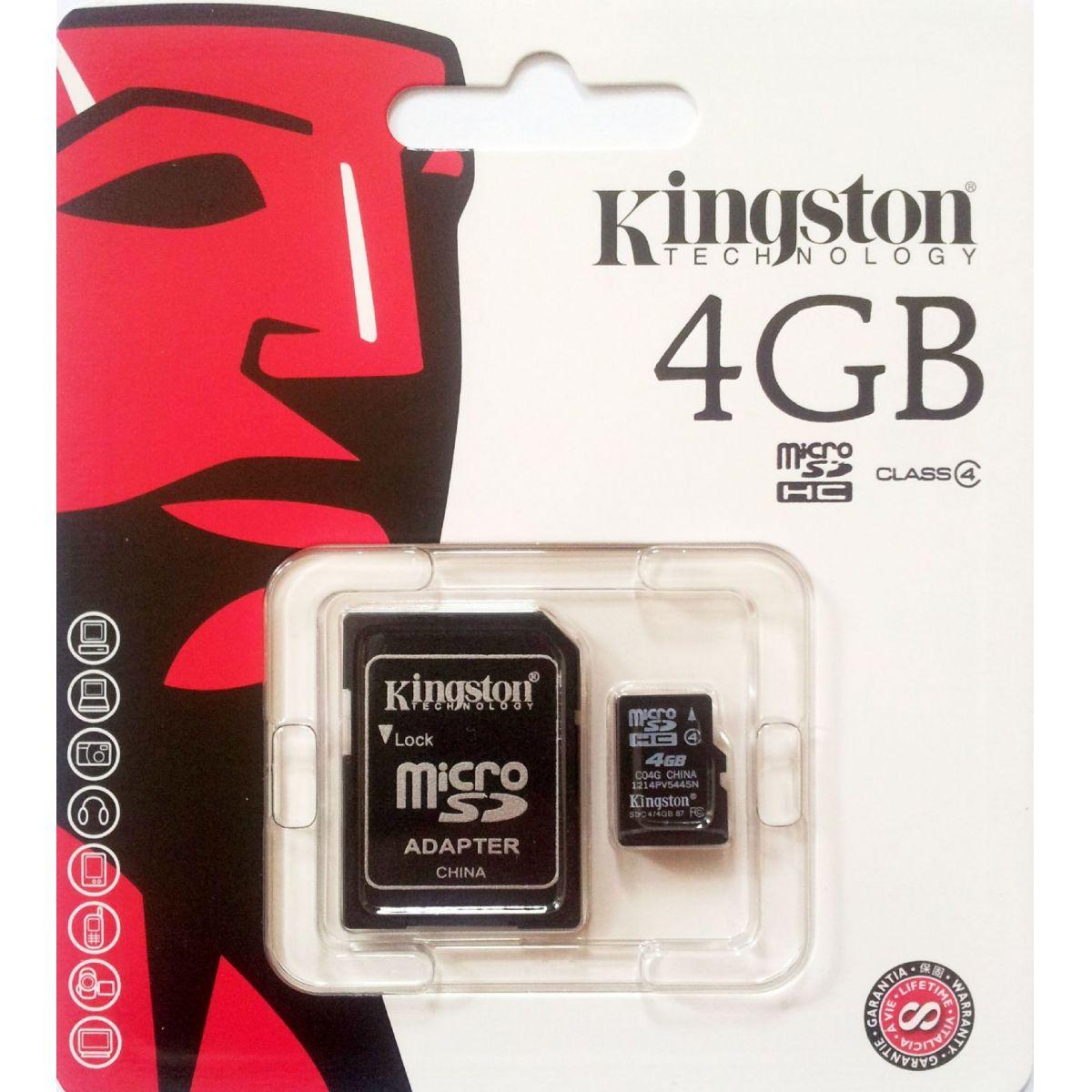 Cartão de Memoria Kinsigton 4GB