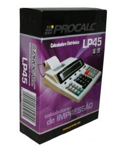 Calculadora de Impressão Procalc LP45 - Calc. Imp. 12 díg, 2 cores. Impressão 2.7 l/s, bivolt chaveada (IR40T)