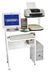 Mesa para Computador, Acessórios e Impressora Multivisão LINK Branco