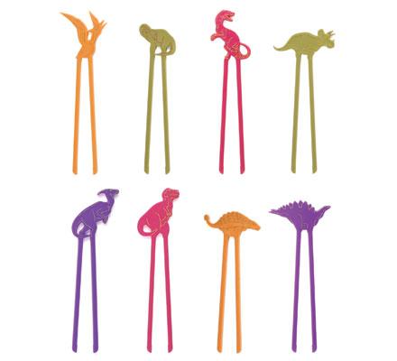 Sticks palitos Hashi infantil Dinossauro (uma unidade)