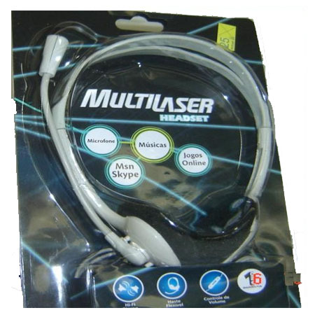 Headset com microfone Creme PS1 Multilaser PH003