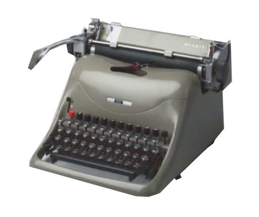 Máquina de escrever manual profissional Olivetti Lexicon 80 Fabricação 1948 Reformada