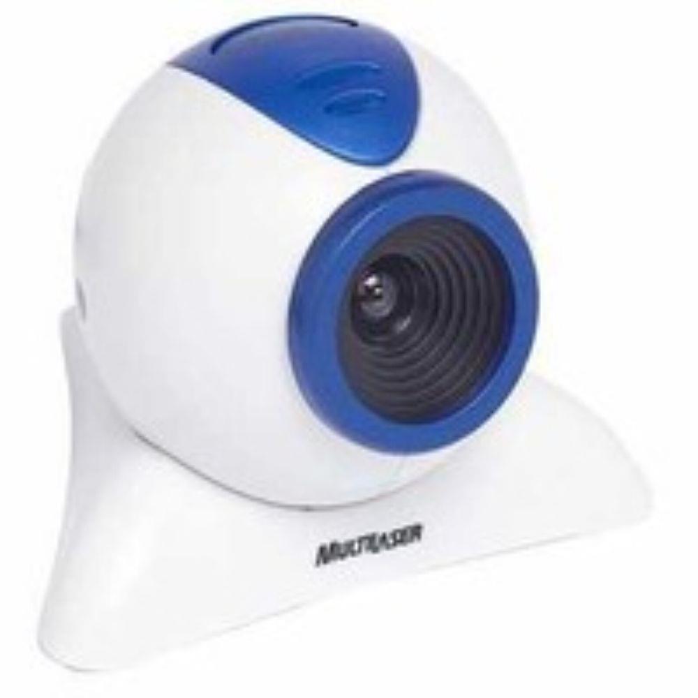 Webcam Multilaser  WC31201 Branco e Azul 350K