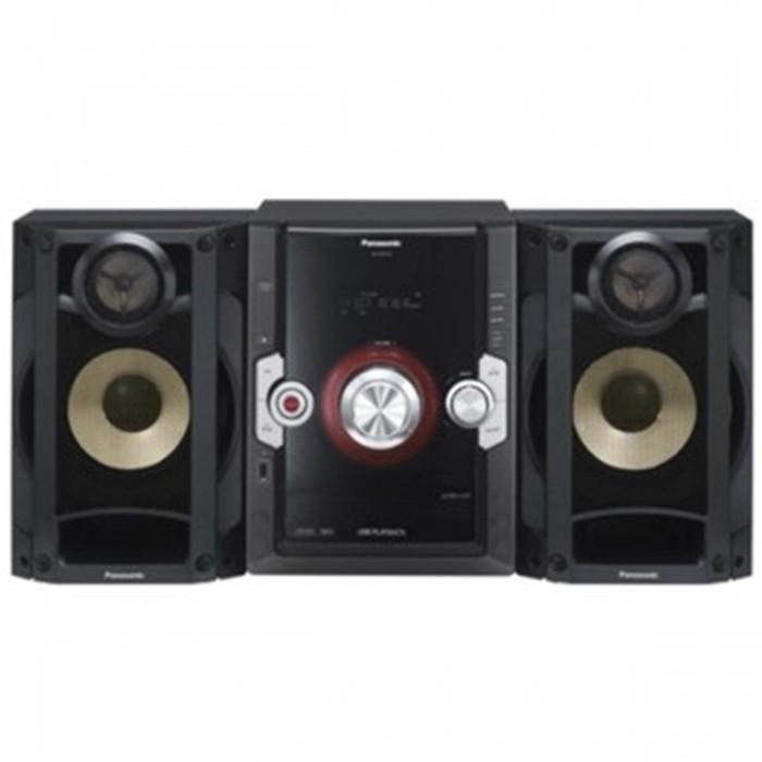 Mini System Panasonic SC-AKX10LB-K - USB, MP3, Alto-falantes em cone de bambu, Conexão DVD Player