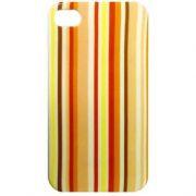Capa de IPhone 4 de Policarbonato Texturizado Em Linhas Coloridas BB-STRIP-YE Acompanha Pel�cula Protetora Aplicador de Pel�cula Flanela para Limpeza