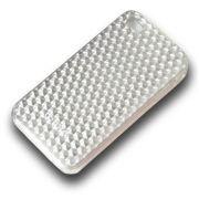Capa de IPhone 4/4S de Policarbonato Texturizado Em Linhas Colorida BB-DIAMOND-SV Acompanha Película Protetora Aplicador de Película Flanela para Limpeza
