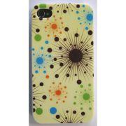 Capa de IPhone 4 de Policarbonato Texturizado Em Linhas Coloridas BB-SHINNY Acompanha Película Protetora Aplicador de Película Flanela para Limpeza