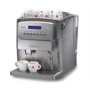 Maquina de Cafe Expresso Automatica Cafeteira Gaggia Titanium Prata Com Moedor 220V
