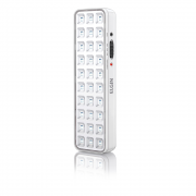 Luminaria de Emergencia 30 LEDs Elgin Botao de Teste Bivolt Bateria Litio