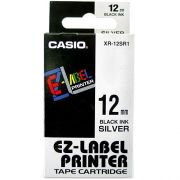 FITA 12 MM PARA ETIQUETADORA CASIO KL PRETO NO BRANCO XR-12WE1