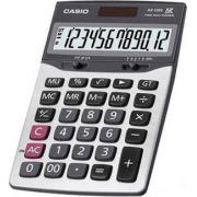 Calculadora de mesa Casio AX-120S-W 12 d�gitos, Solar e Bateria, Prata