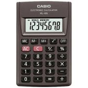 Calculadora de Bolso Casio HL-4A-AS-DP Preta Big Display, 8 D�gitos, 4 Opera��es