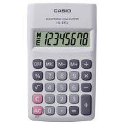 Calculadora de Bolso Casio HL-815L-WE-S4-DP Branca, 8 Dígitos, 4 Operações