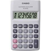 Calculadora de Bolso Casio HL-815L-WE-S4-DH Branca, 8 D�gitos,Big display com tampa