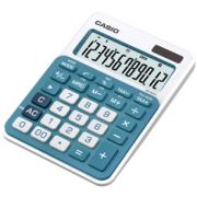Calculadora de mesa Casio Colorful MS-20NC-BU 12 dígitos, Big Display, Preto com azul