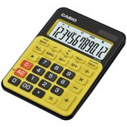 Calculadora de mesa Casio Colorful MS-20NC-BYW 12 dígitos, Big Display, Petro com Amarelo