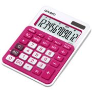 Calculadora de mesa Casio Colorful MS-20NC-RD 12 dígitos, Big display, Rosa escuro