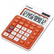 Calculadora de mesa Casio Colorful MS-20NC-RG 12 dígitos, Big display, Laranja