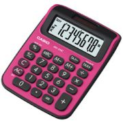 Calculadora de mesa Casio Colorful MS-6NC-BRD 8 dígitos, Big Display, Preta e Vermelha