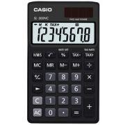Calculadora de bolso Casio Colorful SL-300NC-BK-S-DH 8 dígitos, Cálculo de hora, Preta