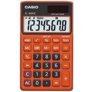 Calculadora de bolso Casio Colorful SL-300NC-BRG-S-DH 8 dígitos, Cálculo de hora, Cálculo de bolso, Preta e Laranja