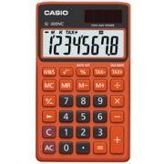 Calculadora de bolso Casio Colorful SL-300NC-BRG-S-DH 8 d�gitos, C�lculo de hora, C�lculo de bolso, Preta e Laranja