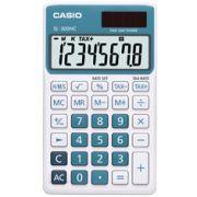 Calculadora de bolso Casio Colorful SL-300NC-BU-S-DH 8 d�gitos, C�lculo de hora, C�lculo de bolso, Azul