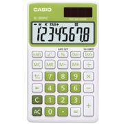 Calculadora de bolso casio Colorful SL-300NC-GN-S-DP 8 d�gitos, C�lculo de hora, C�lculo de bolso, Verde
