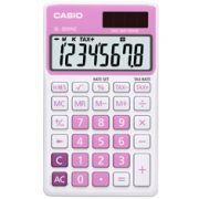 Calculadora de bolso Casio Colorful SL-300NC-PK-S-DP 8 d�gitos, C�lculo de hora, C�lculo de bolso, Rosa