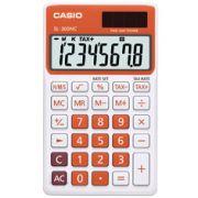 Calculadora de bolso Casio Colorful SL-300NC-RG-S-DH 8 d�gitos, C�lculo de hora, C�lculo de bolso, Laranja