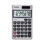 Calculadora de bolso Casio SX-300P-W-DP 8 dígitos, soltar e bateria, Prata