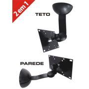 Suporte de Parede Articulado com Inclinação para TVs LCD / LED até 32´´ MULTIVISÃO STPA45  Preto