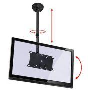 Suporte de TETO com Inclinação para TVs LCD/PLASMA/LED até 32´´. Altura Regulável Multivisão SKY31 Preto