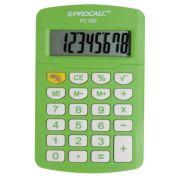 Calculadora de Bolso Procalc PC986, Verde Capim LINHA VIVID COLOR, 8 dígitos, bateria (G10)