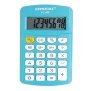 Calculadora de Bolso Procalc PC986, Azul Celeste LINHA VIVID COLOR, 8 dígitos, bateria (G10)