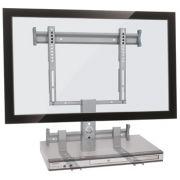 Suporte fixo para TV LCD/Plasma/LED de 19´´ a 40´´ + suporte para DVD ou Acessórios Multivisão  STPF66 COMBO Prata