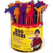 Hashi Infantil Bichos do Zoológico Zoo Sticks Balde transparente com 48 unidades