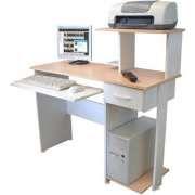 Mesa para Computador, Acessórios e Impressora Multivisão - NEW GEN PLUS Branco e maple
