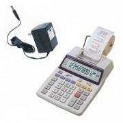 Calculadora de Mesa Sharp EL1750V-B Com Conversor Bivolt, 12 dígitos grandes, Visor, Impressora, Calendário e Relógio